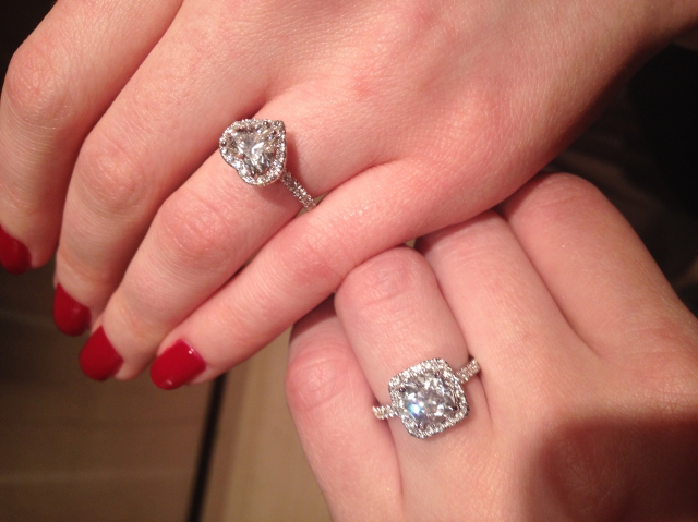 Halo diamond engagement rings shared by doubledouble