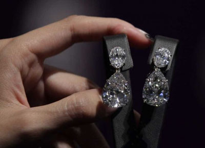 Harry Winston D Internally Flawless Diamond Earrings