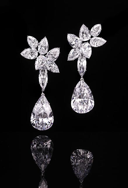 Harry Winston Diamond Ear Pendants Christie's Geneva