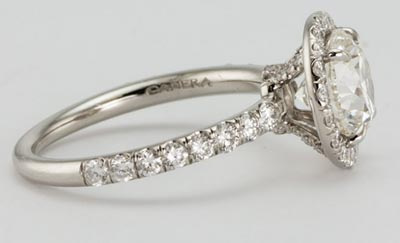 Harry Winston Inspired Diamond Engagement Ring