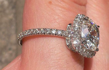 Harry Winston micropave diamond engagement ring