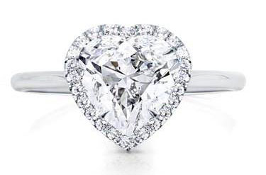 Heart Halo Engagement Setting Plain Band