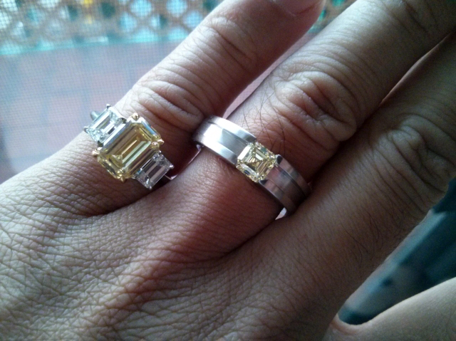 His and Hers yellow diamond rings shared by acebruin