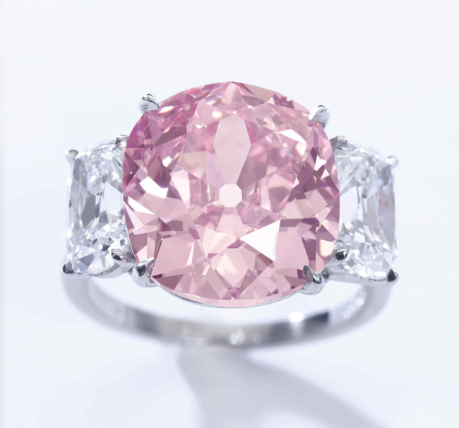 The Historic Pink Diamond • 8.72-carat fancy vivid pink diamond • Sotheby's Geneva