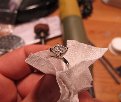 Homemade Asscher Cut Diamond Engagement Ring