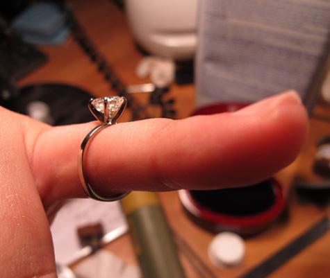 Homemade Asscher Cut Diamond Engagement Ring