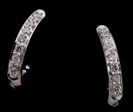 Honora Diamond Hoop Earrings
