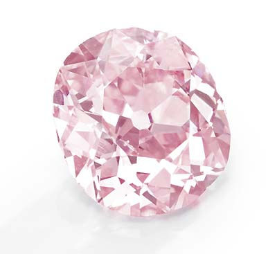 9 carat fancy vivid purplish pink diamond owned by Huguette M. Clark