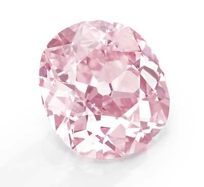 9 carat fancy vivid purplish pink diamond owned by Huguette M. Clark