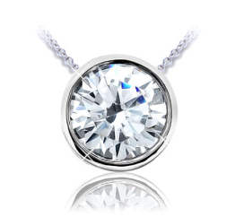 I.D. Jewelry bezel diamond pendant