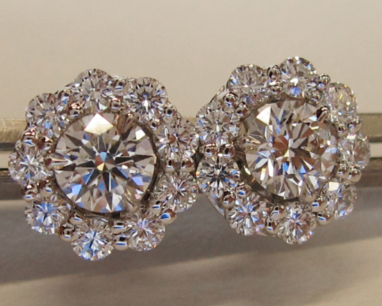 Diamond Studs with ID Jewelry Diamond Earring Jackets