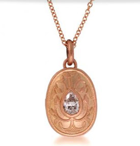 Ila&I rose gold diamond locket