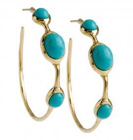Ippolita #3 Hoops in Turquoise