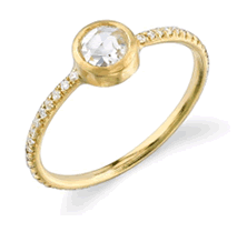 Irene Neuwirth Rose Cut Diamond Stacking Ring