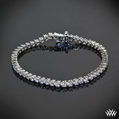 Pair with: Three prong diamond tennis bracelet set in 14K white gold at Whiteflash