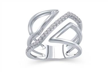 Pair with: Diamond geometric ring set in sterling silver at Ritani