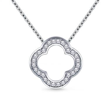 Pair with: Pave set diamond clover pendant set in 14K white gold at B2C Jewels
