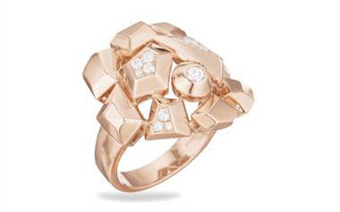 Jackson Diamond Cluster Ring (Medium) - in 18kt Rose Gold - (0.23 CTW)