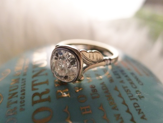 James Meyer Bezel Diamond Engagement Ring