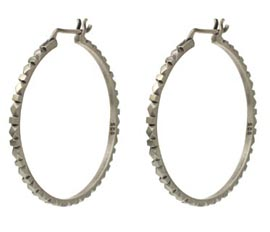 Jane Diaz Carved Hoop Earrings
