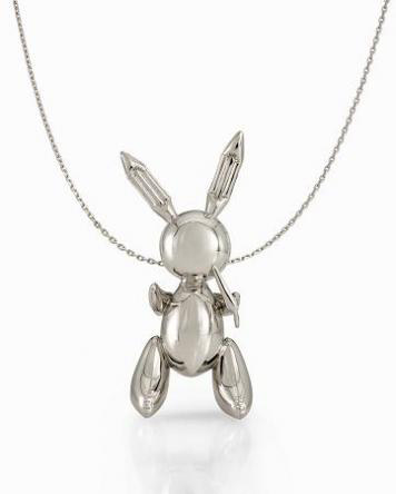 Jeff Koons Platinum Rabbit Pendant