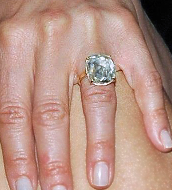 jennifer aniston wedding ring justin