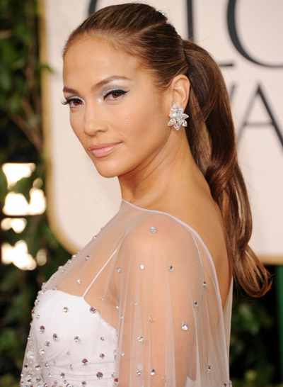 Jennifer Lopez in Harry Winston 2011 Golden Globes