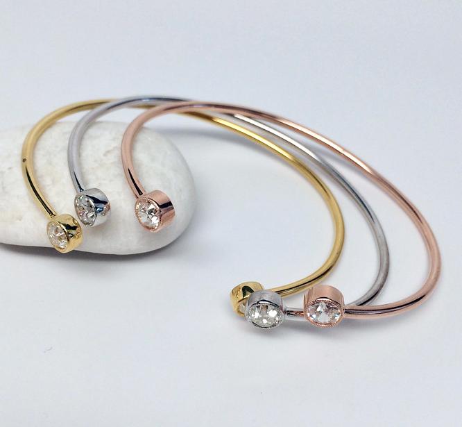 Diamond bangle bracelets from Jewels by Grace