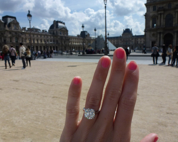 Poppy, an antique cushion-cut diamond, visits the Louvre