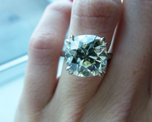 Poppy, an antique cushion-cut diamond, visits London