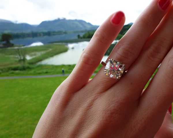 Poppy, an antique cushion-cut diamond, visits Ireland