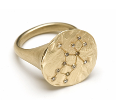 Virgo constellation signet ring by Kamofie
