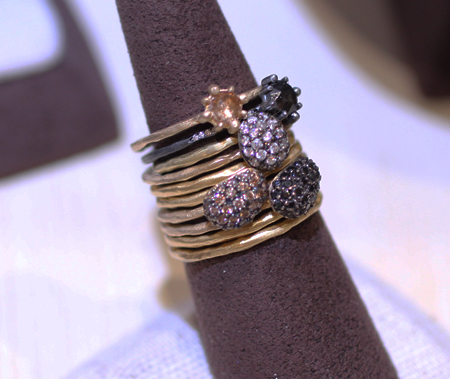 Kamofie diamond stacking rings Couture 2011