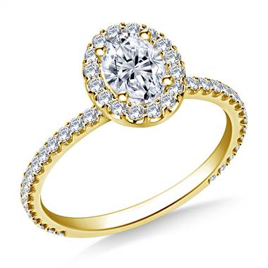 One carat oval cut engagement ring at B2C Jewels