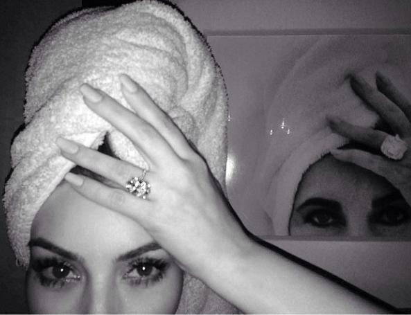 Image: Instagram - Kim Kardashian's engagement ring