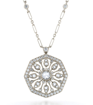 Kwiat vintage collection Plume diamond pendant