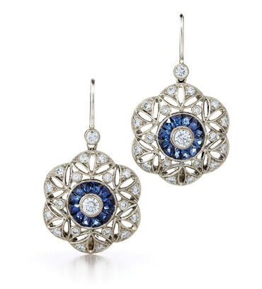Kwiat Juno sapphire and diamond earrings from the Kwiat Vintage Collection