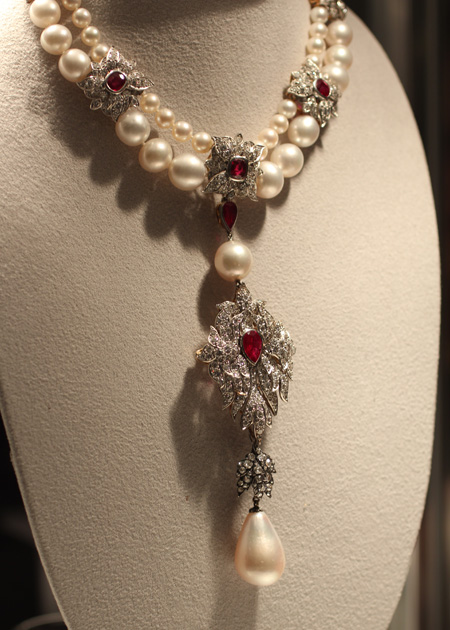 La Peregrina Pearl Necklace sold for $11.8 million at Christie's Auction of Elizabeth Taylor's Jewelry