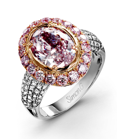 2.75 carat pink diamond on display at Lugaro Jewellers