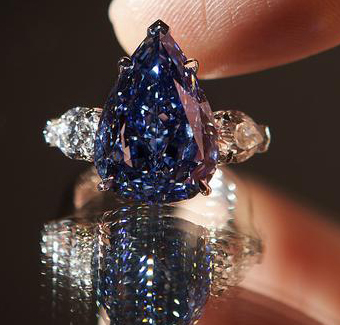 Largest Flawless Vivid Blue Diamond in the World, Christie's