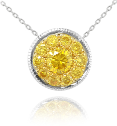 Leibish & Co. fancy vivid yellow diamond pendant