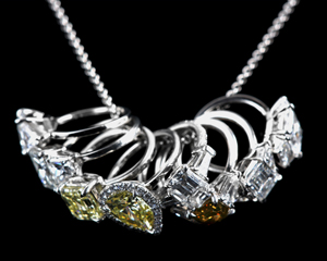 Leon Mege La Petite diamond ring pendant/charm