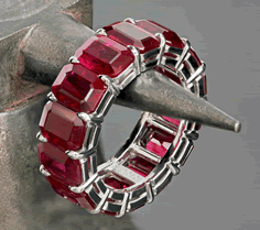 Leon Mege Ruby Eternity Band