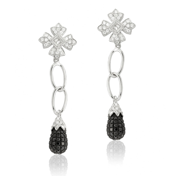 Black Diamond Earrings Leone Collection