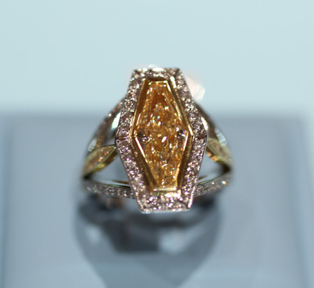 Pave Emerald Cut Diamond