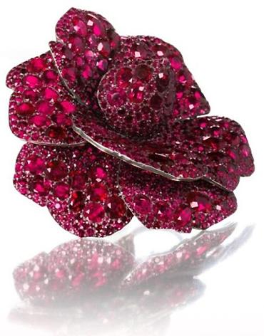 Ruby Camellia brooch by JAR