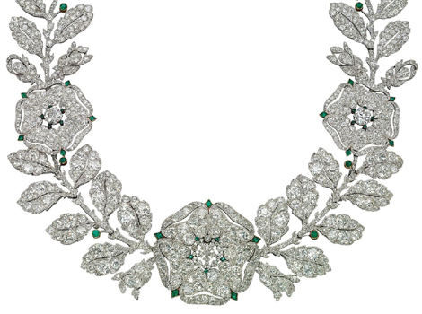 Diamond and emerald Eglantine necklace by Cartier