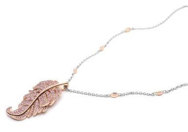The Argyle Pink Plume limited edition pendant: Image by Rio Tinto Diamonds