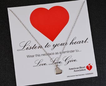 Heart Wish Necklace for Women's Heart Disease Awareness