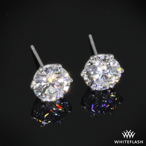 LLJsmom's stunning 2.3ct studs from Whiteflash glamour shot